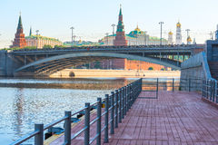 Bridge over the Moscow river Royalty Free Stock Photo