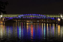 Bridge over the Moscow river at night Stock Photo