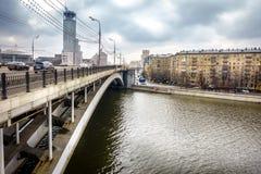 Bridge over Moscow River Royalty Free Stock Photos