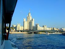 Bridge over Moskva river in Moscow Stock Photography