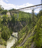 Bridge over the Moyie River gorge in North Idaho Stock Photos