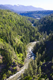 From Bridge over the Moyie River gorge North Idaho Stock Image