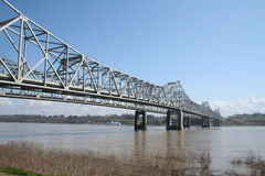 Bridge over the Muddy Mississippi River Stock Photo