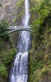 Bridge over Multnomah Falls Royalty Free Stock Images