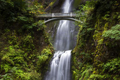 Bridge over Multnomah Falls  Stock Photo