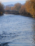 Bridge over Mur river in Graz Stock Photography