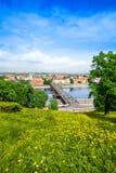 Bridge over Nemunas river in Kaunas Stock Images