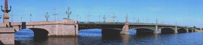 The bridge over the Neva. Petersburg, view, travel Royalty Free Stock Image