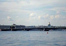 Bridge over the Neva river. Saint-Petersburg, Russia - July 2016 Royalty Free Stock Image