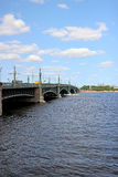 Bridge over the Neva River in St. Petersburg Royalty Free Stock Image