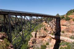 Bridge over Oakcreek in Arizona Royalty Free Stock Photos
