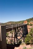Bridge over Oakcreek in Arizona Stock Photo