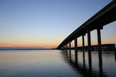Bridge Over Ocean Royalty Free Stock Photography