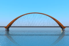 Bridge over the ocean. 3d illustration Stock Image