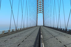 Bridge over the ocean. 3d illustration Royalty Free Stock Image