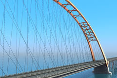 Bridge over the ocean. 3d illustration Royalty Free Stock Photography