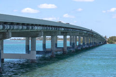 The bridge over the ocean. Road to Key West Royalty Free Stock Image