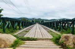Bridge over Pai River at Pai at Mae Hong Son Thailand Royalty Free Stock Image