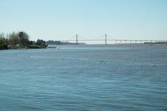 Bridge over Parana river Royalty Free Stock Photo
