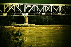Bridge over the past Royalty Free Stock Photography