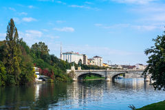 The bridge over the Po River in Turin Stock Photo