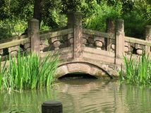Bridge over pond Stock Photography