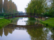 Bridge over pond Stock Image