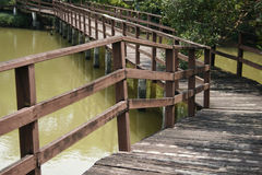 Bridge over the pond Stock Photos
