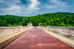 The bridge over Prettyboy Dam, in Baltimore County, Maryland. Stock Image