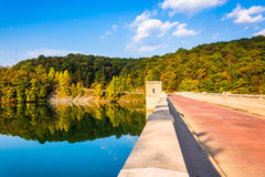 Bridge over Prettyboy Reservoir, in Baltimore County, Pennsylvan. Ia Royalty Free Stock Photography