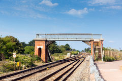 Bridge over railway track Royalty Free Stock Images