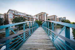 Bridge over the Reedy River in downtown Greenville, South Caroli Royalty Free Stock Images