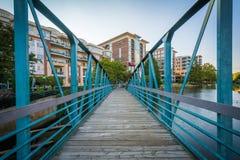 Bridge over the Reedy River in downtown Greenville, South Caroli Stock Photo