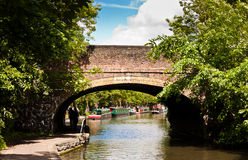 Bridge over Regent`s Canal. Royalty Free Stock Photography
