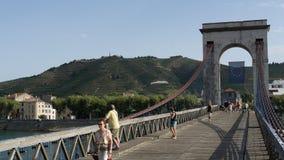 bridge over the Rhône river stock photo