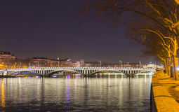 Bridge over the Rhone river 4 Royalty Free Stock Photos