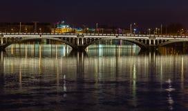 Bridge over the Rhone river 9 Royalty Free Stock Photos