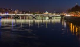 Bridge over the Rhone river 7 Royalty Free Stock Photo
