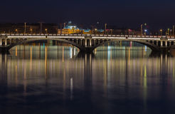 Bridge over the Rhone river 1 Royalty Free Stock Photo