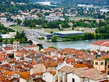 Bridge over the Rhone river, in Vienne, France Stock Photography