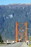 Bridge over the Rio Aysen. Stock Image
