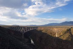 Bridge over rio grande (1). Steel bridge Stock Images
