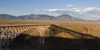 Bridge over Rio Grande (2). Steel bridge over rio grande Royalty Free Stock Photo