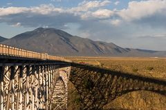 Bridge over Rio Grande (3). Steel bridge over rio grande gorge Stock Photo