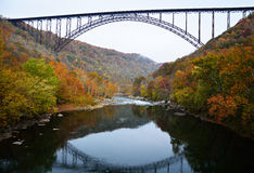 The bridge over the river. In West Virginia Stock Photography