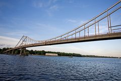 Bridge over river. Dnieper in Kiev stock image