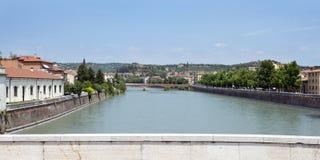 Bridge over the River Adige Royalty Free Stock Image