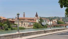 Bridge over the River Adige Stock Image