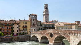 Bridge over the River Adige Royalty Free Stock Images