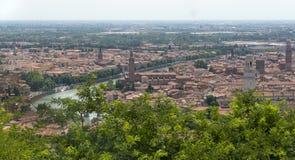 Bridge over the River Adige and Verona Royalty Free Stock Photography